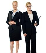 Stock Photo of Two businesswoman over white background