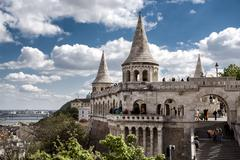 View of fisherman's bastion Stock Photos