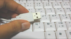 USB Keyboard - stock footage