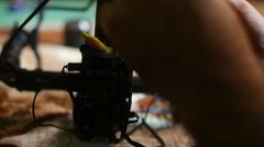 DIY electronics Stock Footage