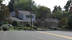 nice neghborhood homes quiet street - stock footage