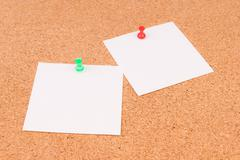 Office Cork Board for notes - stock photo