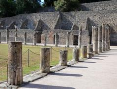 The ancient roman city of pompeii. a part of gladiator barracks. Stock Photos