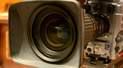 television cameras - cameraman set camera (studio) - stock footage