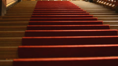 Historic stone stairs - Red Carpet Stock Footage