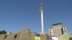Kiev, Maidan square Stock Footage