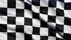 4K Ultra HD seamless loop of checker flag Stock Footage