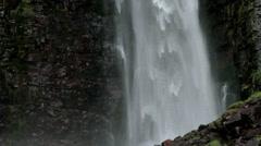 Bottom of the Njupeskar Waterfall - 29,97FPS NTSC Stock Footage