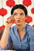 Pensive amazed business woman Stock Photos
