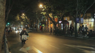 Stock Video Footage of Shanghai Evening Street Scene