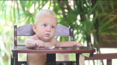 2014 05 25 2564 baby take spoon Stock Footage