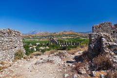 Stock Photo of Aqueduct at Aspendos in Antalya Turkey