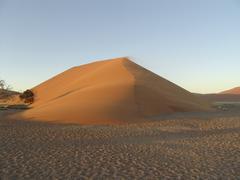 Sunrise over Namib Desert Stock Photos