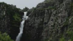 Njupeskar Waterfall Sweden - 29,97FPS NTSC Stock Footage
