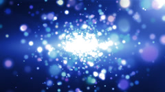 Blue Particles Background Off Focus Stock Footage