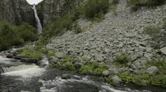 River in National Park Fulufjallet and Njupeskar Waterfall - 25FPS PAL Stock Footage