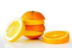 Oranje lemon Stock Photos