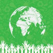 Vector global unity poster Stock Illustration