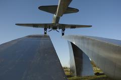Russia. Dubna city. Attack plane IL-2 Stock Photos