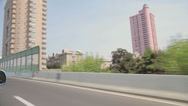 Stock Video Footage of Driving along road in Shanghai in daytime