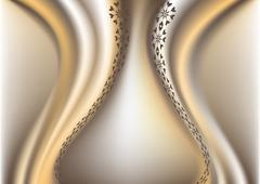 Stock Illustration of Gentle waved gradient mesh background.