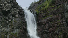 Top of the Njupeskar Waterfall - 29,97FPS NTSC Stock Footage