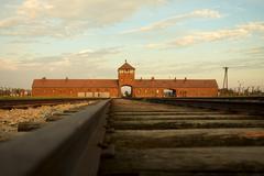Auschwitz-Birkenau Concentration Camp - stock photo
