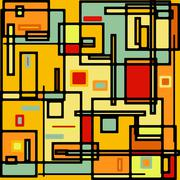 Abstract geometric colorful vector pattern. EPS 8 - stock illustration