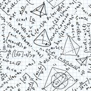 Maths seamless pattern. EPS 8 Stock Illustration