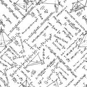 Maths seamless pattern. And also includes EPS 8 - stock illustration