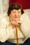 Portrait of elderly woman Stock Photos