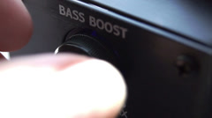 bass boost - stock footage