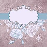 Stock Illustration of Romantic elegant floral with vintage roses. EPS 8