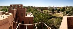 Panoramic view of Moroccan architecture in Mopti Dogon Land Stock Photos