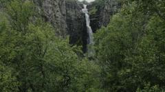 Forest Waterfall Njupeskar Long Shot - 29,97FPS NTSC Stock Footage