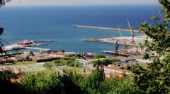 Santa Luzia Hill. Viana Do Castelo And Lima River View, Portugal Stock Footage