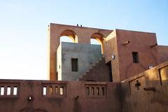 Moroccan architecture in Mopti Dogon Land Stock Photos