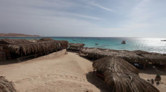 Panoramic view of Mahmya beach, Hurghada, Egypt Stock Footage