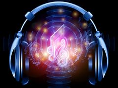 Stock Illustration of Music in headphones