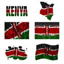 Kenyan flag collage Stock Illustration