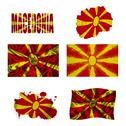 Macedonian flag collage Stock Illustration