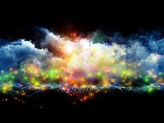Stock Illustration of Vibrant fractal foam