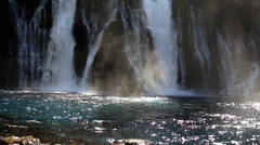 Waterfall with Natural Swimming Pool Stock Footage