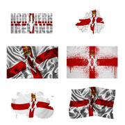 Northern ireland flag collage Stock Illustration