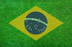 Stock Illustration of brazil grass of soccer championship 2014