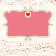 Valentine card with placeholder. EPS 8 - stock illustration