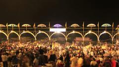 Varanasi Ceremony Night HD Stock Footage
