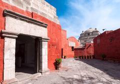Santa catalina monastery, arequipa, it's the most important religious monumen Stock Photos