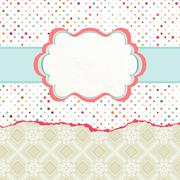 Stock Illustration of Vintage card template with copy space. EPS 8