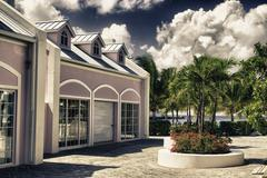 Typical Architecture of Grand Turk, Caribbean - stock photo